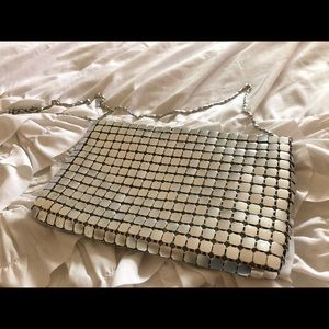 Handbags - Sequin clutch with chain strap